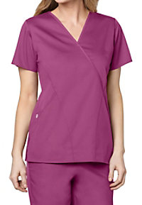 WonderWork Mock Wrap Scrub Tops