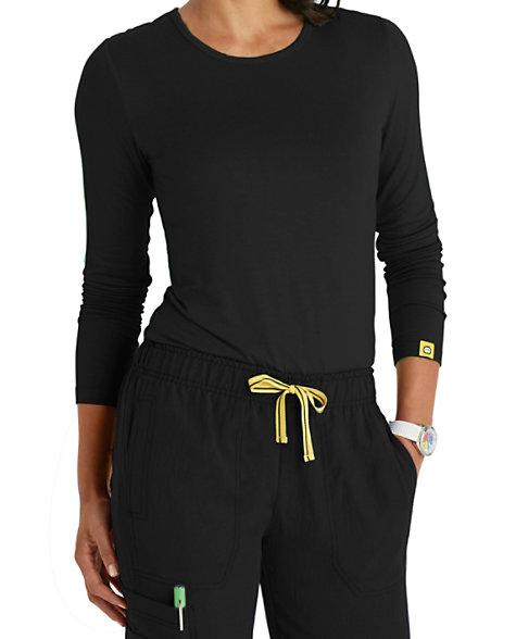7fe96a93 WonderWink Silky Long Sleeve Tees | Scrubs & Beyond