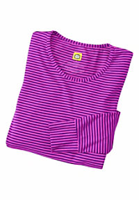 WonderWink Long Sleeve Striped Scrub Tees