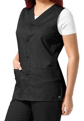 2 Pocket Button Front Vest