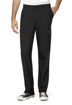 WonderWink W123 Men's Full Elastic Waistband Cargo Scrub Pants