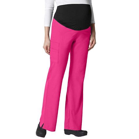 a062f3e38fad7 WonderWink Maternity Stretch Flare Cargo Scrub Pants   Uniform City