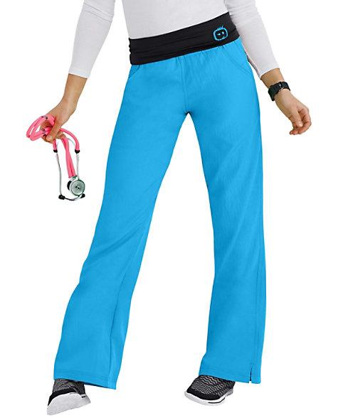7ace656f90 WonderWink Four-Stretch Knit Waist Yoga Scrub Pants | Scrubs & Beyond