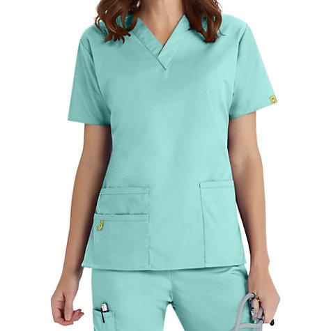 54050741546 WonderWink Origins Bravo V-neck Scrub Tops   Uniform City