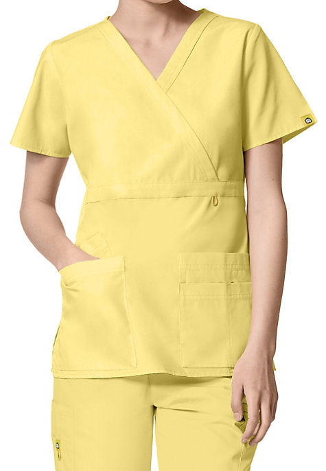 WonderWink Origins Golf Mock Wrap Scrub Tops | Scrubs & Beyond