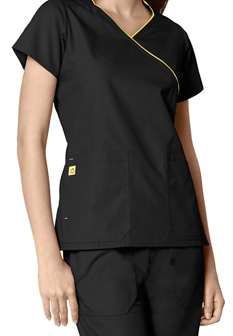 WonderWink Origins Hotel 4 Pocket Mock Wrap Scrub Tops ...
