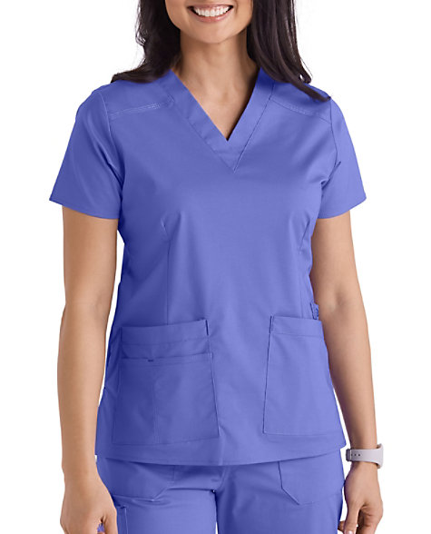 4871f6947dc WonderFlex Verity Stretch V-neck Scrub Tops | Scrubs & Beyond