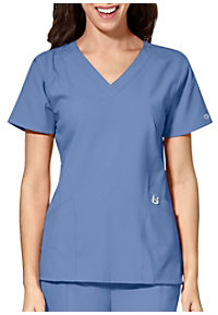 a8ad776d21f See Details item #W6155 · WonderWink W123 Women's Stylized V-Neck Scrub Top