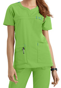 WonderFlex Patience Curved Notch Neck Scrub Tops