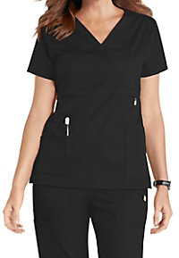 WonderWink Next Elizabeth Mock Wrap Adjustable Waist Scrub Tops