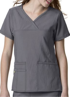 WonderWink Four-Stretch 3 Pocket Y-Neck Scrub Top