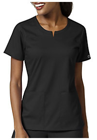 c5259800f1ba8 See Details item #W6419 · WonderWink Pro Princess Seam Notch Neck Scrub Top