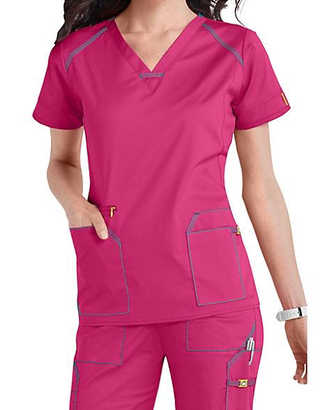 3f94a61b397 WonderWink 7 Flex V-Neck Scrub Tops | Scrubs & Beyond