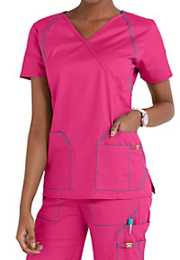WonderWink 7 Flex Crossover Scrub Tops