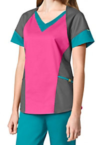 WonderWink 7 Flex Color Block Bolero Scrub Tops