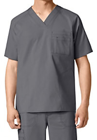WonderFlex Men's Multi Pocket V-neck Scrub Tops
