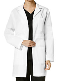4 Button Inset Waistband Lab Coat
