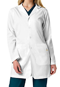WonderWink Next Women's Mitered Collar Lab Coat With Inset Shoulders