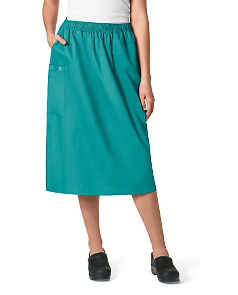 3d29cbb477 WonderWORK Pull On Cargo Scrub Skirts | Scrubs & Beyond