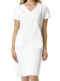 Zip Front Short Sleeve Dress