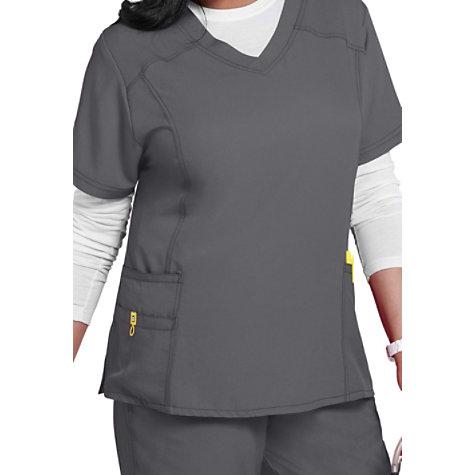 baedc5cffe7 WonderWink Plus Curved V-neck Scrub Tops | Uniform City