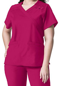 WonderWink Plus Mock Wrap Scrub Tops