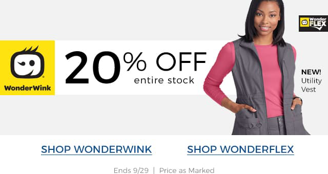 20 percent off wonderwink
