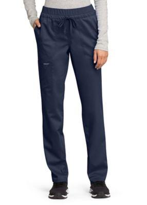 Cherokee Workwear Revolution Straight Leg Drawstring Scrub Pant With Knit Contrast