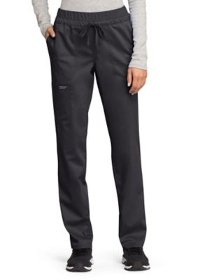 Cherokee Workwear Revolution Straight Leg Drawstring Scrub Pant With Knit Contrast