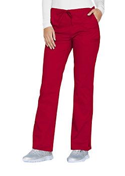 Cherokee Workwear Core Stretch Drawstring Scrub Pants Red