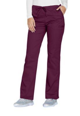 Cherokee Uniforms WW130 Mid Rise Straight Leg Drawstring Pant