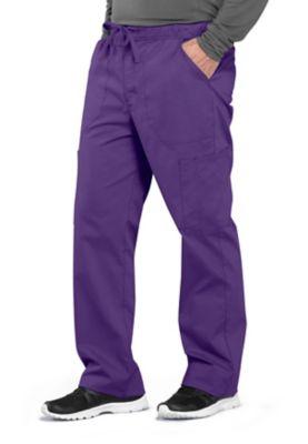 Cherokee Workwear Professionals Men's Tapered Leg Drawstring Cargo Scrub Pants