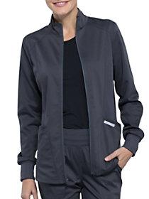 Mesh Accent Zip Front Jacket