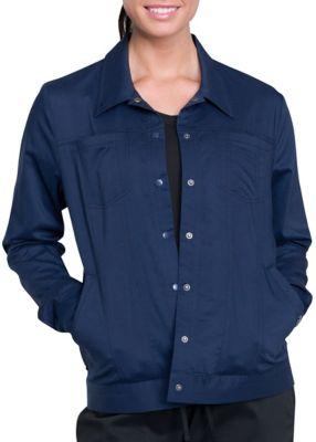 Cherokee Workwear Revolution 4 Pocket Trucker Style Scrub Jacket