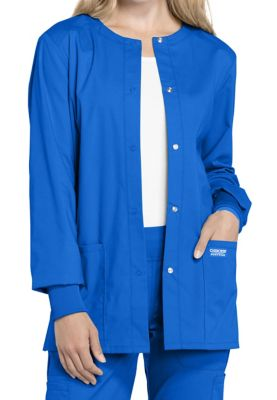 Cherokee Workwear Professionals Snap Front Warm-up Scrub Jackets