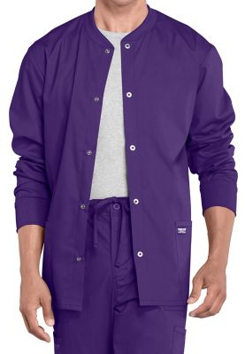 Cherokee Workwear Professionals Men's Snap Front Warm-up Scrub Jackets