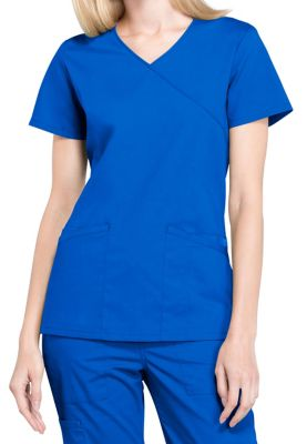 Cherokee Workwear Professionals Mock Wrap Scrub Tops