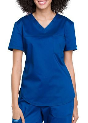 Cherokee Workwear Revolution 1 Pocket V-Neck Scrub Top