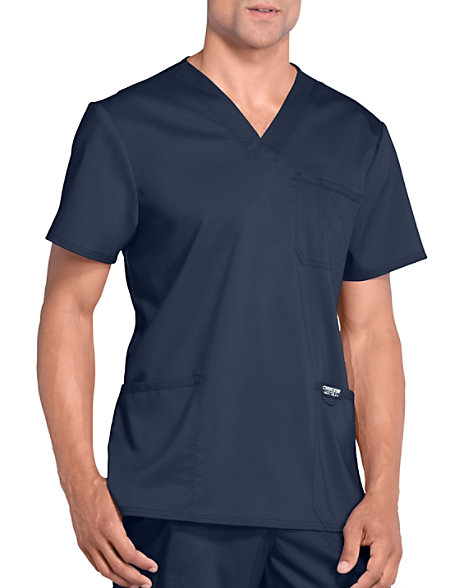 a3eb2264ad7 Cherokee Workwear Revolution Men's 3 Pocket V-neck Scrub Tops | Scrubs &  Beyond