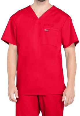 Cherokee Workwear Professionals Men's One Pocket V-neck Scrub Tops