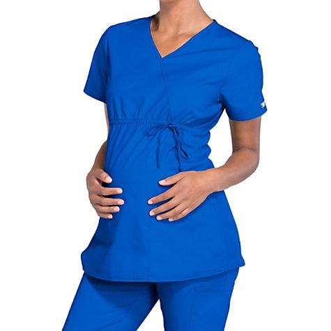 8c6e9ffb895 Cherokee Workwear Professionals Maternity Mock Wrap Scrub Tops ...