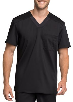 Cherokee Workwear Revolution Tech Men's Chest Pocket V-neck Scrub Tops With Certainty