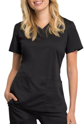 Cherokee Workwear Revolution Tech V-neck Scrub Tops With Certainty