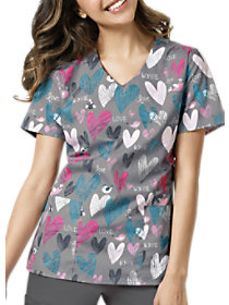 Chirps of Love Print Top