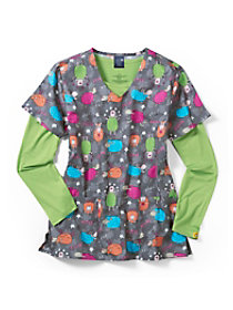 Counting Sheep V-Neck Print Top