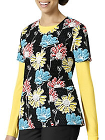 Sunflower V-Neck Print Top