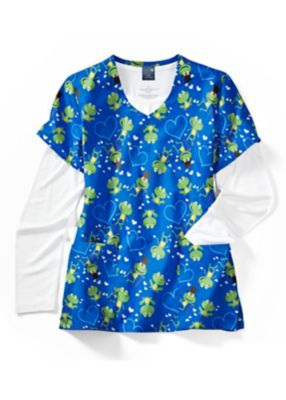 Froggy V-Neck Print Top