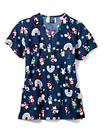 Penguin March V-Neck Print Top