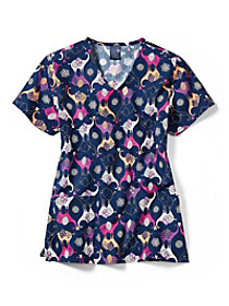 Trunk Show V-Neck Print Top