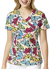 Sky High V-Neck Print Top